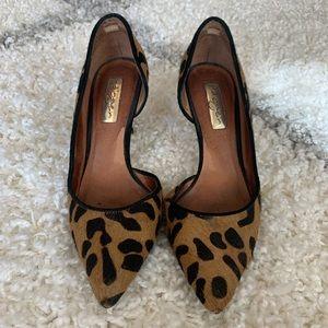 halogen leopard calf hair d'orsay pumps sz 4.5